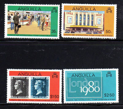 Anguilla #371-374  London Stamp Exibition   Mint  Vf Nh  O.g
