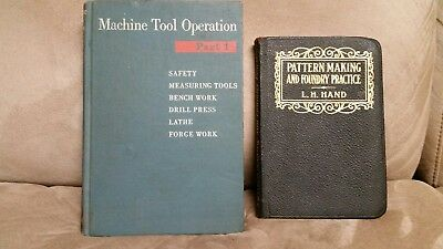 Machine Tool Operation Part 1 Pattern Making Foundry Practice Books Lathe Drill
