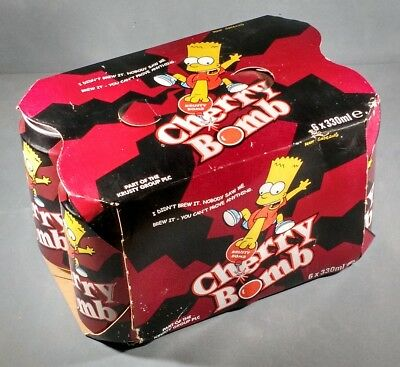 The Simpsons Cherry Bomb 6 pack soft drink UK Hall & Woodhouse Bart