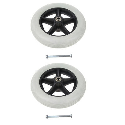2 Pack Wheelchair Mobility Aids Front Castor Replacement Wheel Solid Tyre,8""