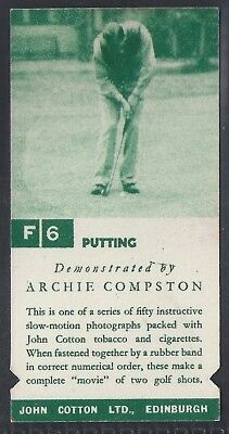 Cotton-Golf Strokes E/F-#F06#E45- Quality Card!!!