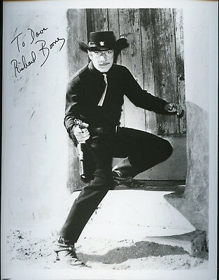 Richard Boone Signed Photo In Role As Paladin  Very Scarce