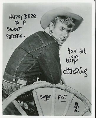 Will Hutchins Sugarfoot Actor 2 Signed Photo From Show.
