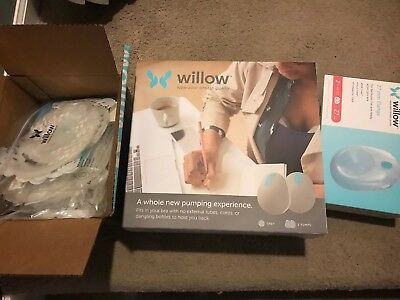 Willow Wearable Breast Pump Portable With Accessories Fits In Bra Used Once