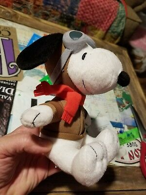 "Snoopy MetLife Plush Doll 6"" Flying Ace Pilot With Goggles Cartoon Caracter!!!!!"