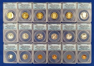 2009-S 18-coin Silver Proof Set ANACS PR70 DCAM First Day Of Issue #318 of 792