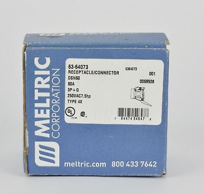 MELTRIC Electric 63-64073 Receptacle Connector DSN 60, New!