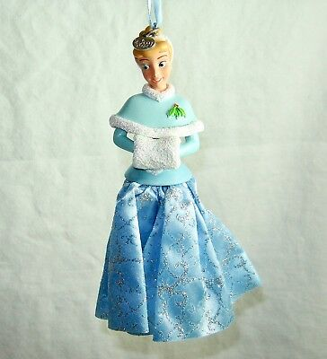 Disney Store 2017 Sketchbook Christmas Ornament Cinderella in Winter Clothes New