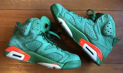 02f9257055f7 Nike Air Jordan 6 Gatorade Pine Green Orange Retro AJ5986-335 Shoes Size  10.5