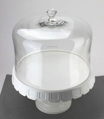Martha Stewart Collection Facet Cake Stand With Dome - Retail $143.