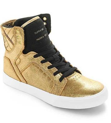 66271ca3aff SUPRA MUSKA 001 Boys Youth Black Canvas High Top Sneakers Skate ...