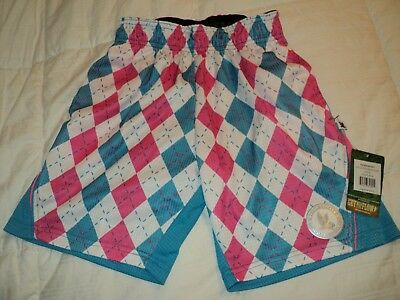 FLOW SOCIETY KIDS YOUTH ARGYLE PERFORMANCE SHORTS LACROSSE SOCCER Size XS NEW