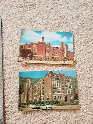 2 1950s era Post Cards Johnstown PA Central High School