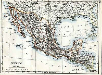 Mexico & Central America.   and  USA  ( S.W Central) -another side , 1906 map