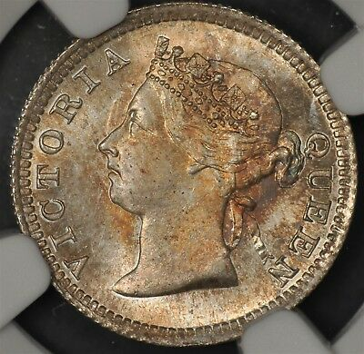 1901 Ngc Ms66 Hong Kong 5 Cents