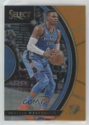 5392c6504f7 2017 Panini Select Orange Prizm #22 Concourse Russell Westbrook Basketball  Card