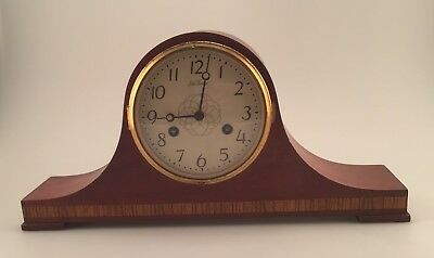 Seth Thomas Tambour Mantel Shelf Clock Westminster Chime