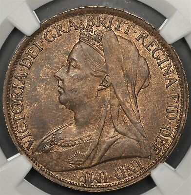 1896 Ngc Ms62Bn Great Britain Penny