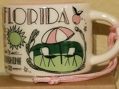 Starbucks Florida Demitasse Cup and Ornament NIB 2 oz Been There Series 2018