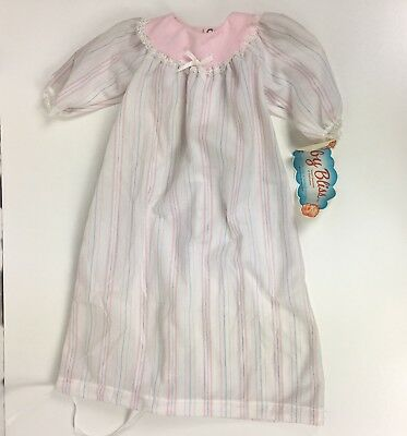 NOS Vtg 70s Infant Girls Sleep Dress Gown Sac Baby Bliss Size 3m USA Made