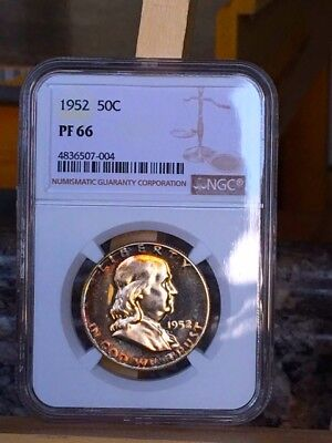 1952 Franklin Half NGC PF 66 * Nice toning! Price Guide $400 - Gorgeous Gem! *