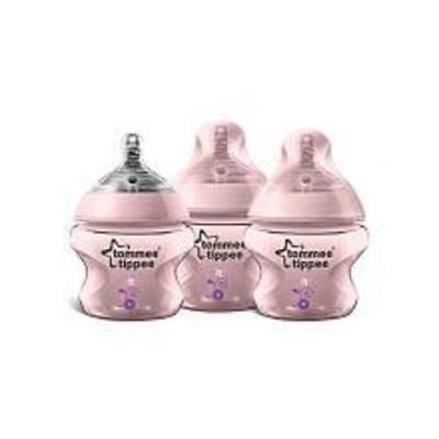 Tommee Tippee Closer to Nature Decorated Bottle - 5oz 3pk (Girls)
