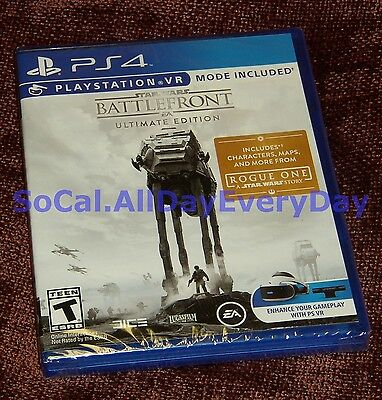 Star Wars Battlefront 1 ULTIMATE Edition w/Season Pass, 4 DLC Packs, VR Mode PS4