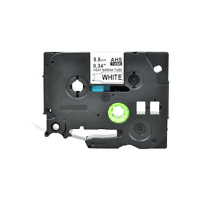 """1PK Heat Shrink Cartridge Label Black on White HSe221 For Brother P-Touch 3/8"""""""