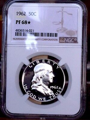 1962 STAR Franklin Half NGC PF 68 STAR * Price Guide $105-$170 NICE! *