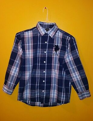 US Polo Assn Boys Long Sleeve Shirt Size 10/12