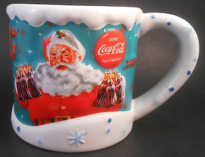 Houston Harvest Gifts 2004 Coca-Cola Christmas Santa Large Ceramic Mug Coke