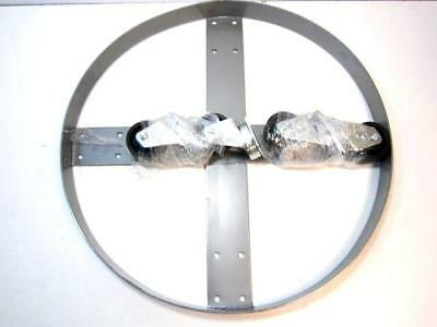 """55 Gall. Capacity 24 x 23-1/8 x 6-1/4"""" Steel Drum Dolly NEW"""