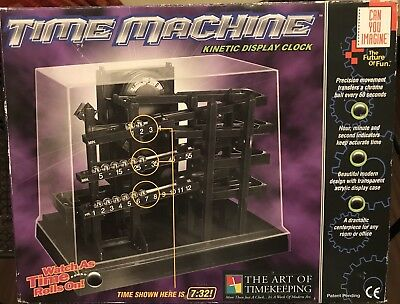 Can You Imagine Time Machine Rare Kinetic Display Ball Clock Rare Tested Works
