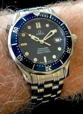 Omega Seamaster Professional 300M James Bond Blue! Look! Near Mint! Full Set NR!