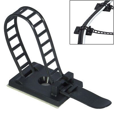 25Pcs Adjustable Adhesive Cable Straps Cord Wires Tie Mount Clips Clamps Tools