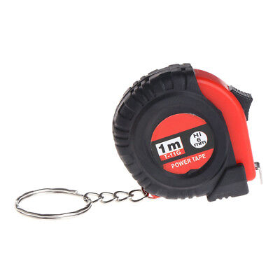 Mini Tape Measure With Key Chain Plastic Portable 1m Retractable Ruler cm/Inch