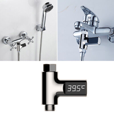 LED Digital Shower Thermometer Battery Free Real Time Water Temperature Monitor
