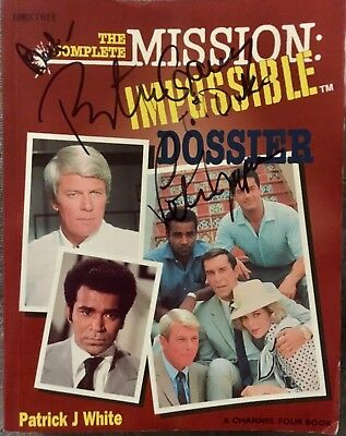 Peter Grave & Peter Lupus signed The Complete Mission Impossible Dossier Book