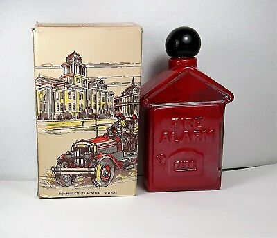 Vintage Avon Fire Alarm Box Wild Country After Shave 4 oz Full