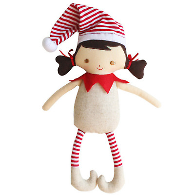 ALIMROSE CHEEKY ELF GIRL RATTLE - 26cm