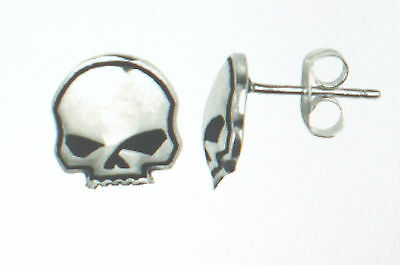 Sterling Silver Harley Single Stud Earring Post Willie G Biker MC Jewelry New