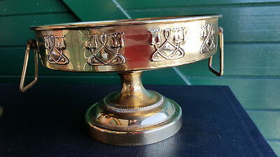 Art Nouveau Brass Centre Piece. Great Fruit Bowl, Polish & Be Rewarded.