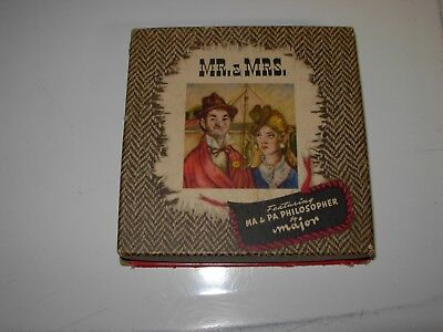 Vintage 1949 Hudson Motors Ma & Pa Philosopher by Major Dbl. Deck Playing Cards