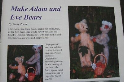 MAKE ADAM & EVE CUTE BEARS - pattern