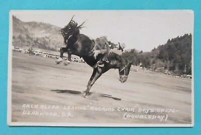 Days of 76 Rodeo Arch Allen Deadwood, South Dakota Real Photo Doubleday RPPC
