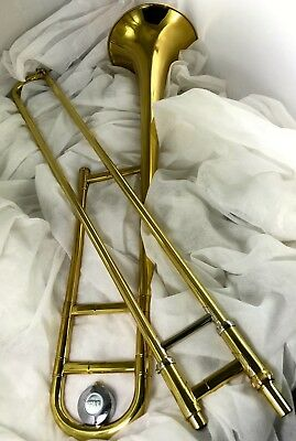 Trombone OLDS Ambassador model 1960s FACTORY lacquered brass,Great Slide NICE!