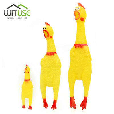 Squeeze Shrilling Screaming Rubber Chicken Pet Dog Toy Squeaker Chewing Gift 83