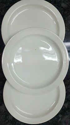 "Midwinter Wedgwood Stonehenge White 7"" Salad or Butter Plates Set of 3 England"