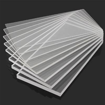 Clear Acrylic Perspex Sheet Plastic Panel Cut Multi Size 2/3/4/5/6/8/10mm Thick