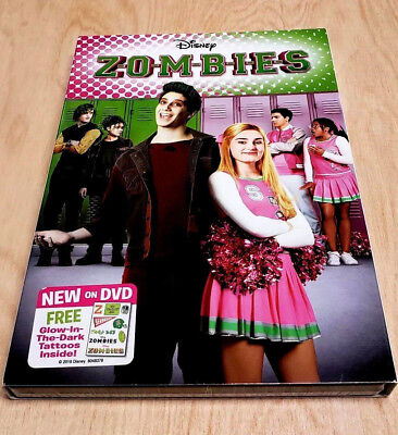 Disney Zombies DVD Disney with Slipcover & Glow in the Dark Tattooos NEW